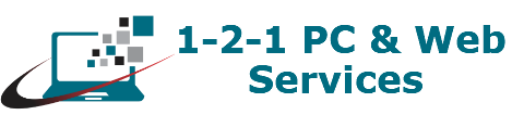 121 PC & Web Services Logo